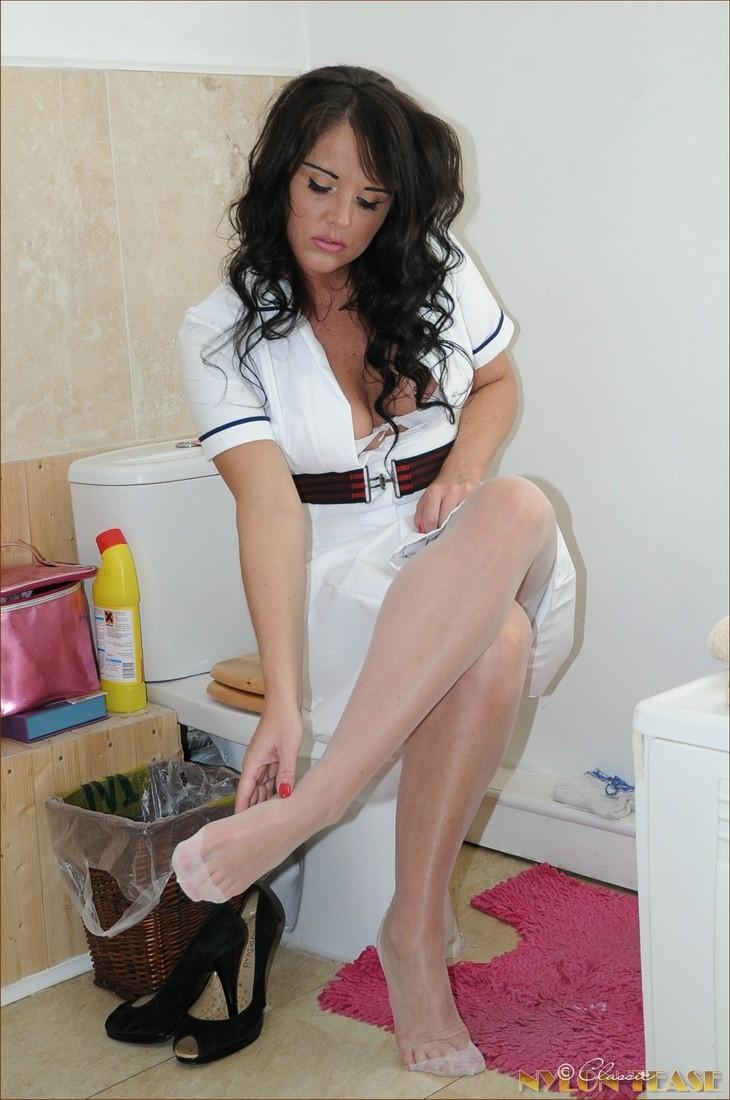 Porn pics of Nurse in white nylons - Nylon Babes