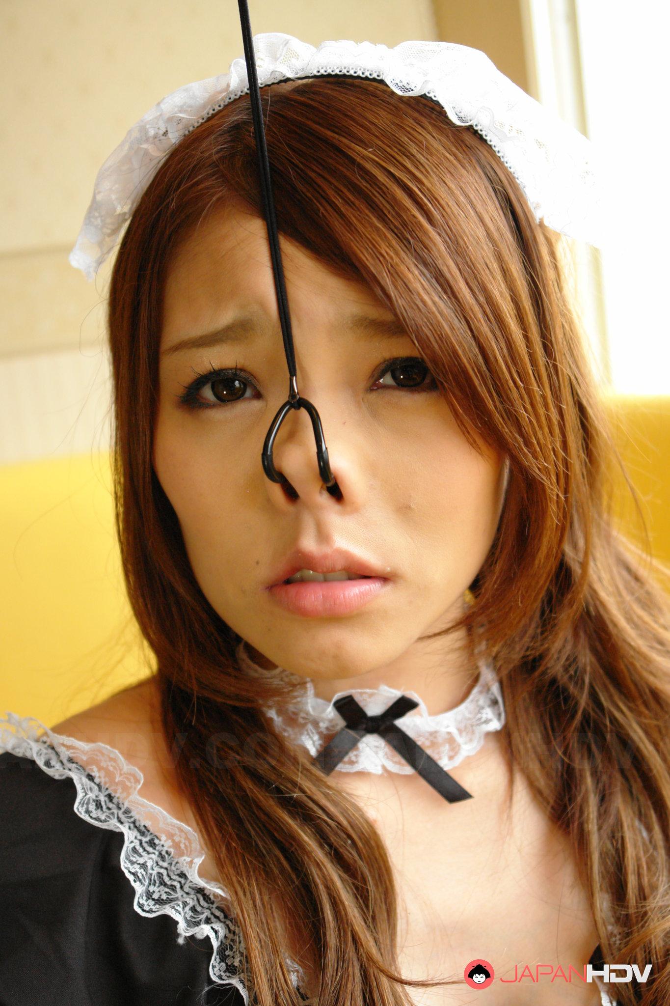 Porn pics of Amazing Japanese nose hook darling Aoi Yuki